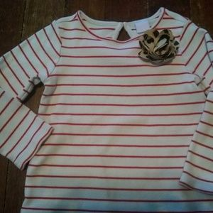 Janie and Jack red striped shirt size 5